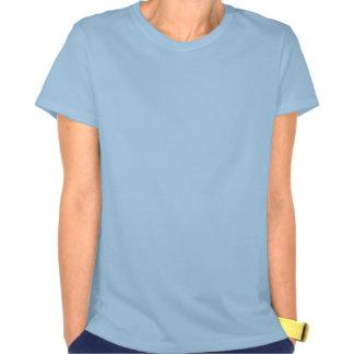 Camiseta azul para mujer del signo de la paz del polera