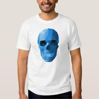 Camiseta azul pesada del cráneo de Rockets Polera
