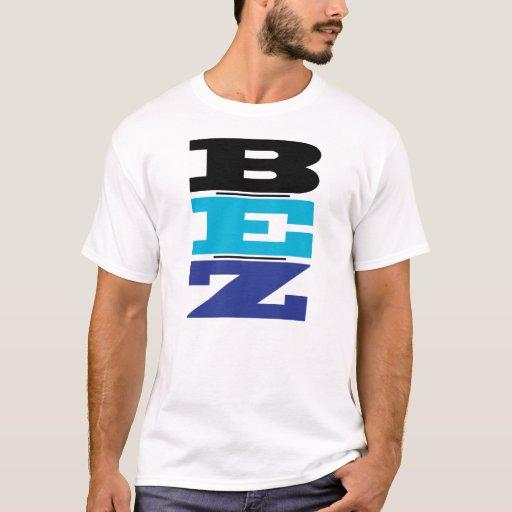 Camiseta azul y negra de B-E-Z (sea fácil) -