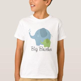 Camiseta azul y verde de hermano mayor del