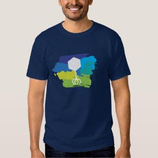 Camiseta bacteriófaga del logotipo (multicolora; camisas