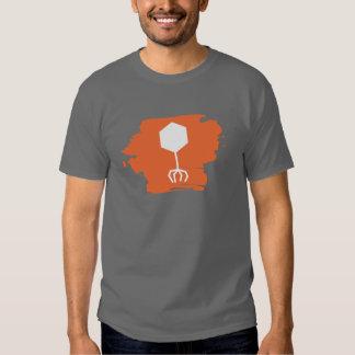 Camiseta bacteriófaga del logotipo (naranja) playera