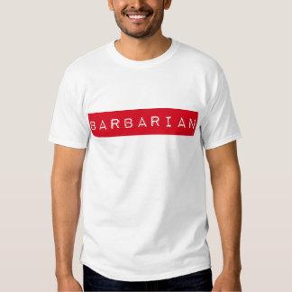 Camiseta bárbara de la etiqueta remera