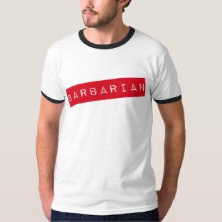 Camiseta bárbara del campanero de los hombres poleras