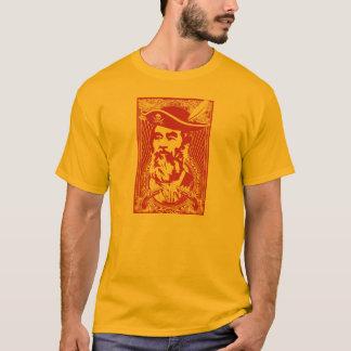 Camiseta barbuda del retrato de Saddam Hussein
