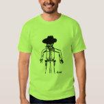 Camiseta básica adulta del bosquejo del vaquero - poleras