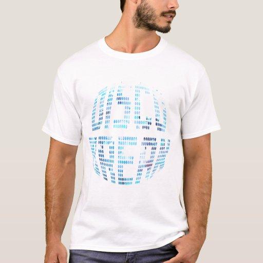Camiseta básica azul de la rotura del disco