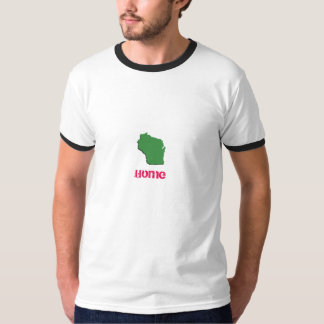 Camiseta básica casera del campanero de Wisconsin Polera
