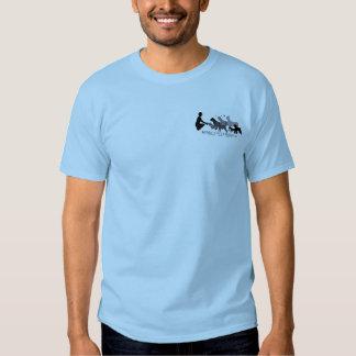 Camiseta básica con el logotipo gris poleras