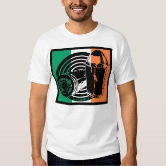 Camiseta básica de la bandera irlandesa del polera