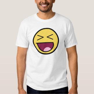 Camiseta básica de la cara impresionante feliz playera