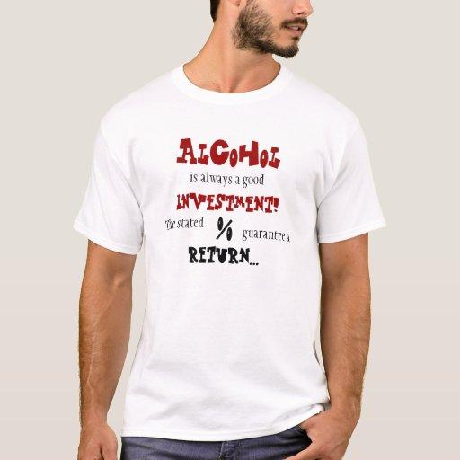 """""""Camiseta básica de la inversión del alcohol"""" Playera"""