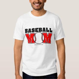 Camiseta básica de la mamá del béisbol poleras