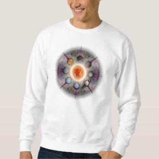 Camiseta básica de la mandala planetaria pulovers sudaderas