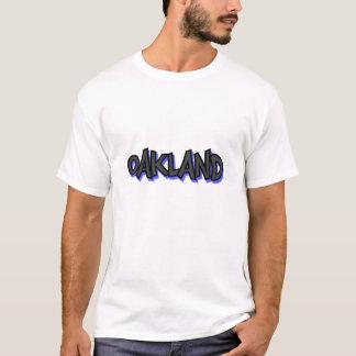 Camiseta básica de la pintada de Oakland, blanco,