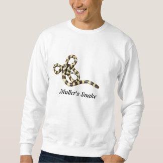 Camiseta básica de la serpiente de la moleta sudadera con capucha