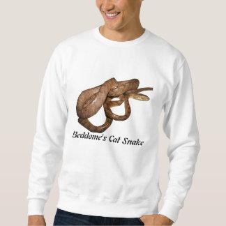 Camiseta básica de la serpiente del gato de suéter
