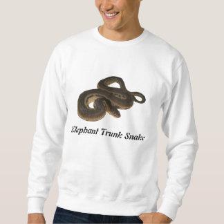 Camiseta básica de la serpiente del tronco del suéter