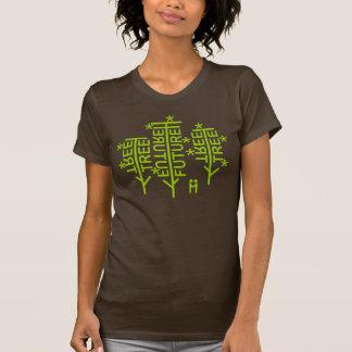Camiseta básica de las señoras de los árboles en