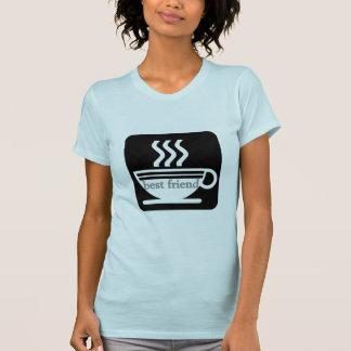 Camiseta básica de las señoras del mejor amigo del playeras