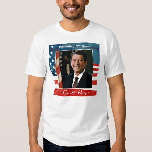 Camiseta básica del 100o cumpleaños de Reagans Playera