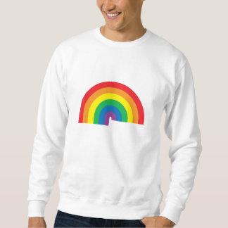 Camiseta básica del arco iris sudaderas encapuchadas