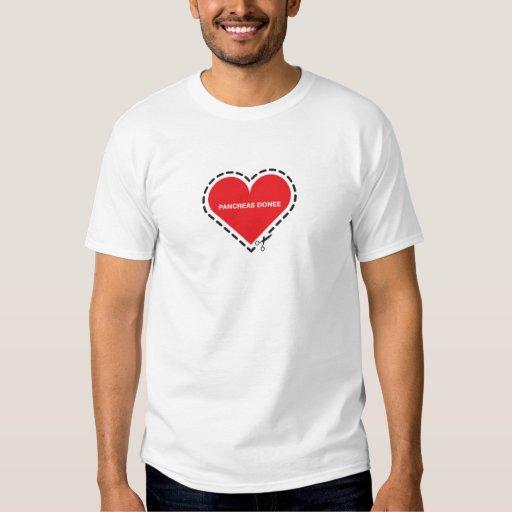 Camiseta básica del donatario del páncreas playera