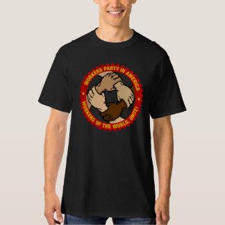 Camiseta básica del negro del partido obrero playeras