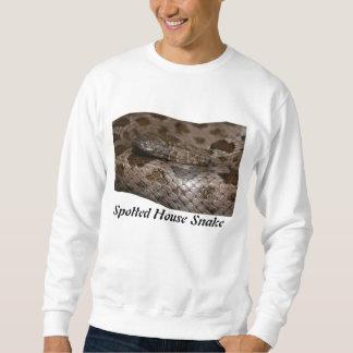 Camiseta básica manchada de la serpiente de casa sudadera con capucha