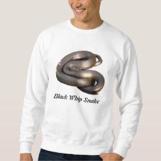 Camiseta básica negra de la serpiente de azote sudaderas encapuchadas