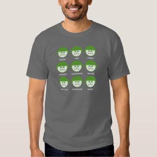 Camiseta básica oscura de la impresión del verde polera