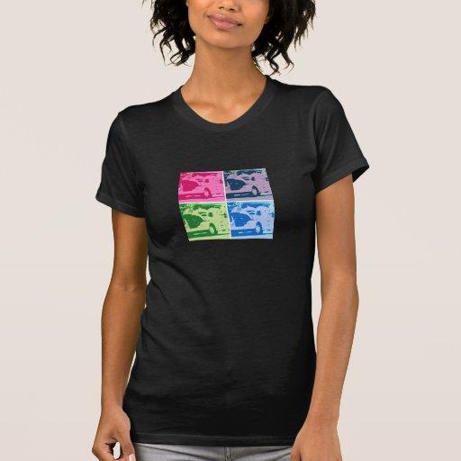Camiseta básica oscura de las señoras con las