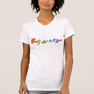 """Camiseta básica """"radiactiva"""" del logotipo de las m"""