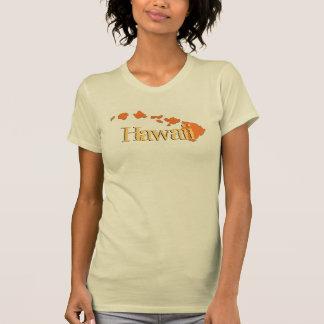 Camiseta beige anaranjada de las señoras de las polera