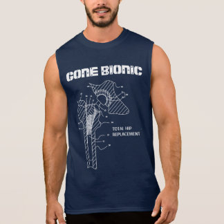 "Camiseta ""BIONIC"" IDA del reemplazo de la cadera Playeras Sin Mangas"