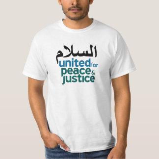 "Camiseta blanca árabe de la ""paz"""