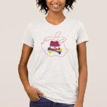 Camiseta blanca como la nieve del diseño del kuroi