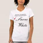 Camiseta blanca como la nieve del molde de la luz