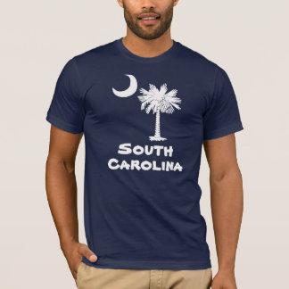 Camiseta blanca de Carolina del Sur del Palmetto