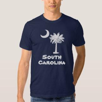 Camiseta blanca de Carolina del Sur del Palmetto Remeras