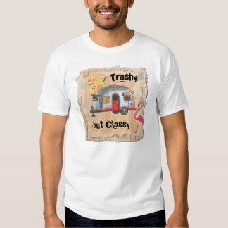 Camiseta blanca de la basura del remolque playeras