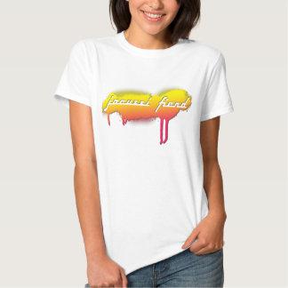 Camiseta blanca de la etiqueta del demonio del poleras