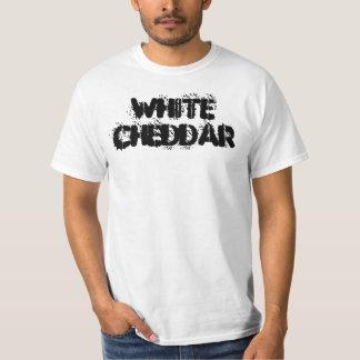 Camiseta blanca de la plantilla del Cheddar Polera