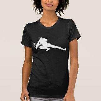 Camiseta blanca de la silueta del empuje playeras