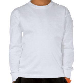 Camiseta blanca de largo envuelta del logotipo del