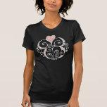 Camiseta blanca de las señoras del adorno del cora