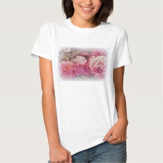 Camiseta blanca de moda con la impresión pintada camisas