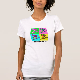 Camiseta blanca del ala ambarina