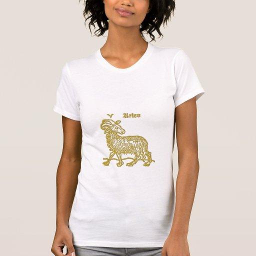 Camiseta blanca del aries de la muestra del zodiac