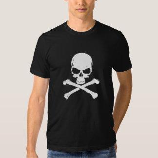 Camiseta blanca del cráneo el | camisas